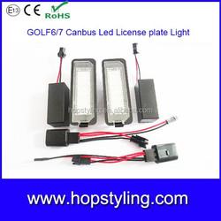Super bright Golf 4 Golf 5 Golf 6 Golf 7 led license plate light led number plate lamp license plate light for VW Golf4 Passat