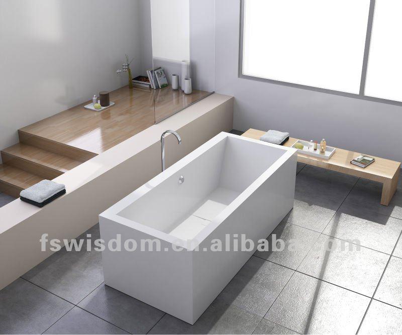 Surface solide corian baignoire en pierre fabricant wd6541 for Prix baignoire en pierre