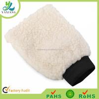 Sheepskin Car polishing mitt, Lambs Wool Car Wash Mitt Genuine Sheepskin