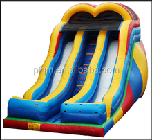 PVC,1000D PVC tarpaulin 0.55mm Material and Slide Type Most Popular 1000 ft Slip N Slide Inflatable Slide The City