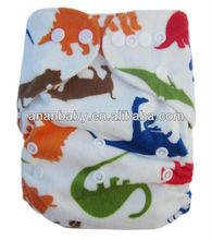 Cute Soft PUL MINKY Antibacterial baby Cloth Diaper One-Size Snap Closure Cloth Diaper
