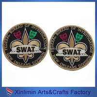 Custom Embroidered Badge/ Wholesale Embroidered Patch with velcro back