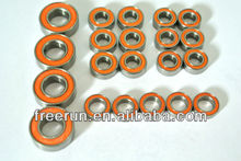 High Performance TAMIYA LAFA ROMEO steel bearing kits with different rubber seal color