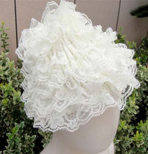 hot sale baby dance lace ivory hats for baby girls in stock