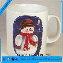 snowman ceramic coffee mug for christmas