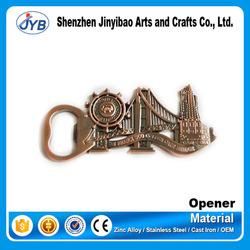copper bridge shaped beer bottle opener as a souvenir gift