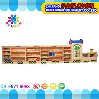 Train Shape Children Cabinets Kindergarten Furniture Wooden Toy Cabinet(XYH12132-4)