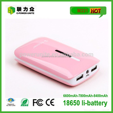 2015 universal 7800mAh power banks with fc ce rohs