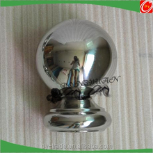 steel handrail balls, decorative stainless steel ball with hole