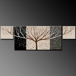 abstract naked tree 5 panel oil painting hand painted cheapest