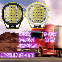 For 4WD Jeep SUV UTV ATV Make in modern skill! 185w 4x4 accessories 185w led work light 12v 9 inch 185W led driving light