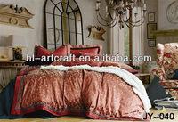 Bedsheet Linen Fabric / King Size Bedsheet Set / Designed Quilt Cover JY-040