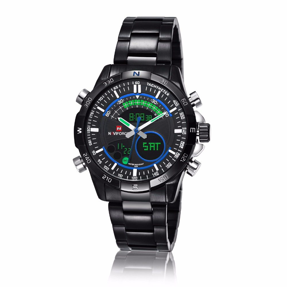 naviforce top luxury brand led multi function sports