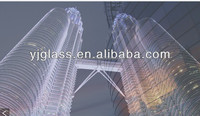4mm-19mm clear laminated ceramic frit glass for facade