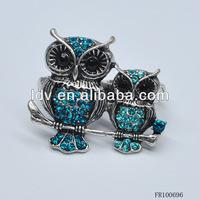 Free sample fashion cheap healing hand owls darry ring
