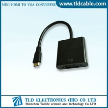 1080p MINI HDMI to VGA Cable Video Converter Adapter for Laptop PC