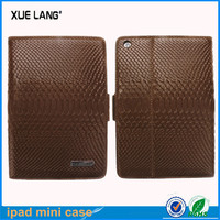 Business real leather case Luxury genuine leather case for ipad mini 2