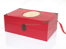 Double Bottles Leather Wine Box, PU Wine Carrier, Faux Leather Gift Box