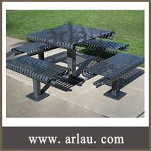 (TB-N95) Park Garden Steel Outdoor Metal Picnic Table