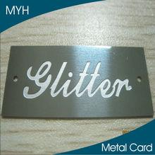 Free samples laser etched, engraved, die cut logo metal business cards for sale