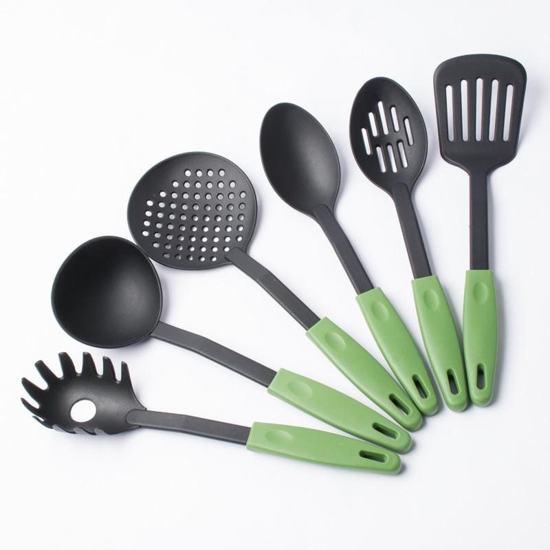 6 pcs royal western cuisine outils batterie de cuisine ustensiles de cuisine ensemble avec trou. Black Bedroom Furniture Sets. Home Design Ideas