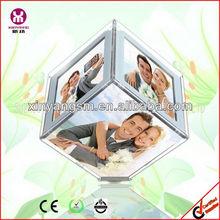 acrílico de la foto marco 16x16x16cm led cubo marcos de fotos