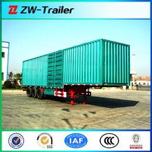3 axles 60ton cargo semi trailer / bulk cargo cage semi trailer