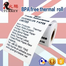 "57x50mm BPA free thermal paper till roll -100 rolls suitable for 58mm POS machine cash till roll 2 3/4""x90'"