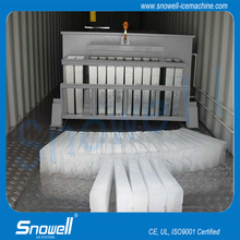 Snowell 50TPD industrial ice block making machine for fishing trawlers