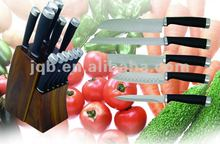 High quality Stainless Steel Kitchen Knife Set with Wooden Block