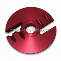 cnc custom auto parts milling machining metal machine products with red anodized