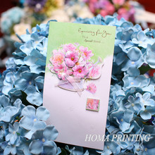 Pink flower wholesale greeting cards to special friends