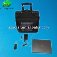 High power friendly solar panel backpack charger travel suitcase for laptop charger with pull rod