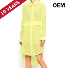 Latest fashion brand names of ladies fashion dresses shirt designs with picture HST7101