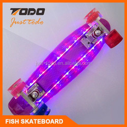 Small professional wooden skateboard