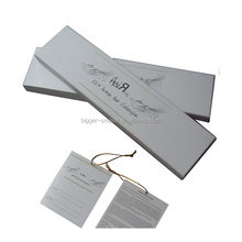 personalized hair extension boxes in long and rectangular form mention the product specifications, instructions and other inform