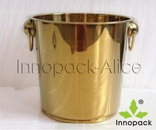 7L stainless steel gold and silver Ice Bucket gift