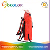 2015 customized logo Waterproof Pvc Duffel Bag with shoulder straps