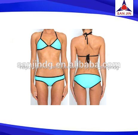 neopreno triangl bikinis conjunto empuje hacia arriba del traje de baño sexy trajes de baño bañadores