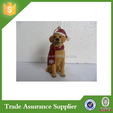 Decorative Handmade Custom Resin Christmas Dog