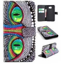 Green Eye Cool Leather Cover for Samsung Galaxy Note 5