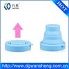 silicone folding mug cup/ cheap portable silicon foldable cup