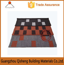 Heat insulation building materials purple sand coated metal roof tile