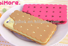 phone case Sandwich biscuits design silicone cover case for iphone 5 5s, for iphone 5s case silicone,for iphone case 5s 6 4s