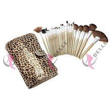 Latest cheap synthetic hair lip make up brush kit