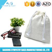 Small Drawstring Custom Printing Bracelet Cotton Bag Manufacturer