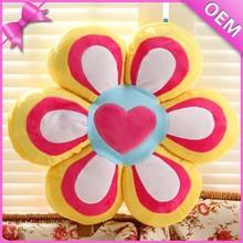 Bright Colorful Soft Cushion Pillow, Plush Cushion, Plush Flower Shadped Pillow