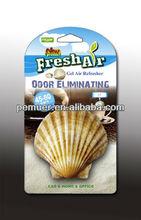 Fragrance fresh air shell shape hanging gel air freshener for car best car perfume