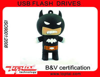32G High Speed Individualized Design Customized Shape Lovely Batman Silicon Thumb Drive