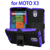 2015 unique pc tpu mobile phone case Silicone and PC heavy duty pc tpu gel cases with stand for moto x3 with great price